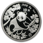 1992 Silver Chinese Panda 1 oz (Proof) - (Sealed)